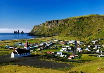 Katlatrack's beautiful home town of Vik in Iceland