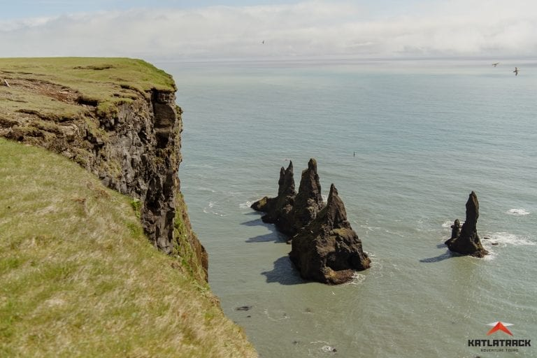 The view from above Reynisdrangar in Vik Iceland