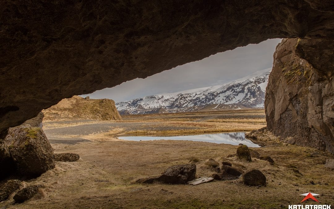 Exploring one of Iceland's many secret caves